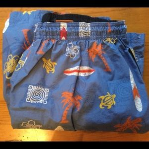 Roundtree & Yorke swim suit ~ Blue w/nautical XL